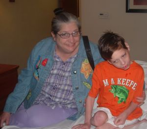 Nana and Noah at Hotel in MS