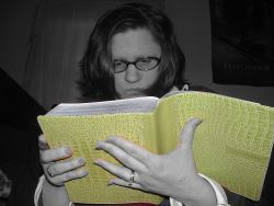 Self Portrait - Reading my Bible
